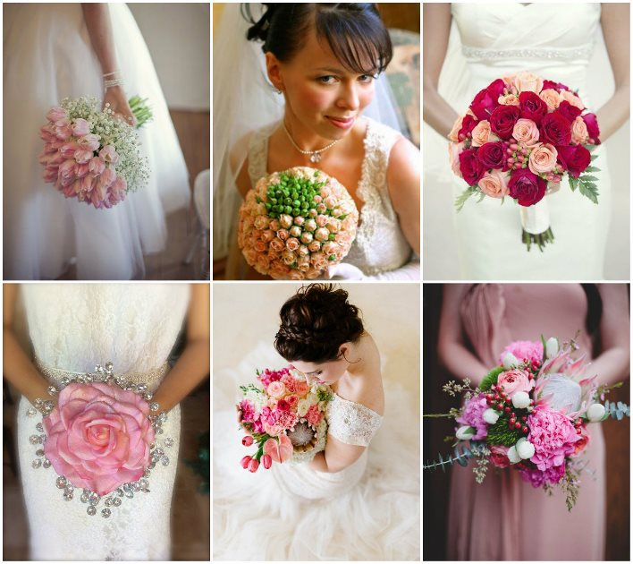 Свадебные букеты к розовому платью фото — pic 11