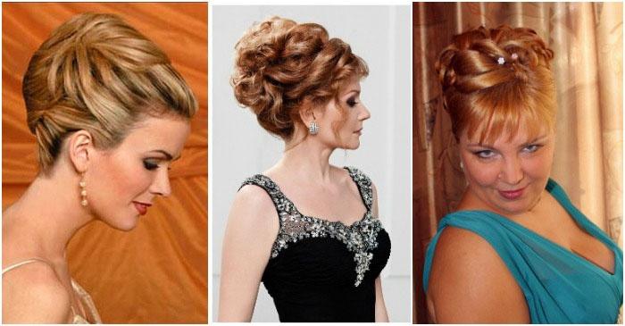 фото: прически для мамы невесты на средние волосы