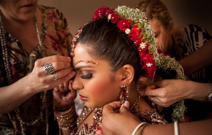 Свадебная прическа индианки