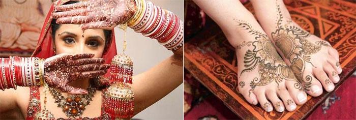Традиция: Минди на руках и ногах невесты