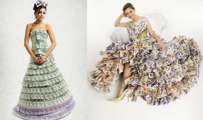 «Денежная» одежда на свадьбу
