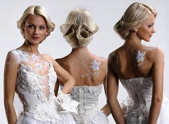Боди-арт для невесты