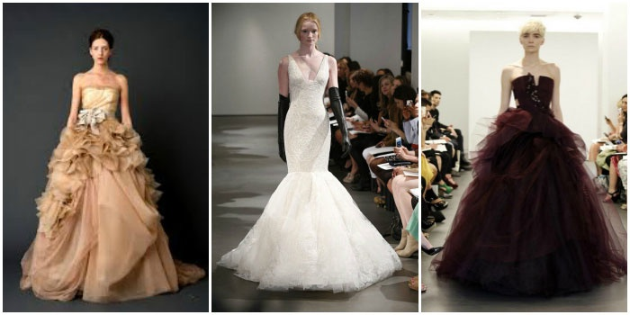 Фото дизайнерской одежды для свадьбы от Vera Wang