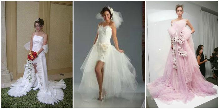 Фото необычных моделей свадебной одежды