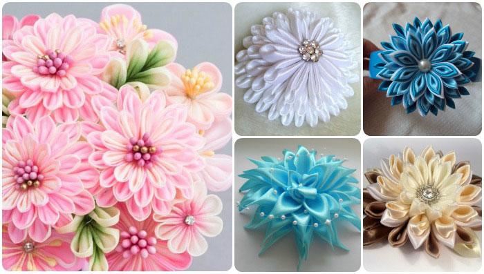 Как сделать цветы из вуали своими руками фото 648