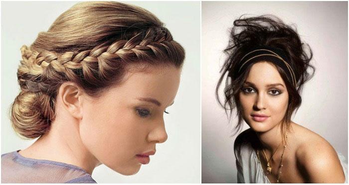 Свадебные прически по-гречески на волосы средней длины