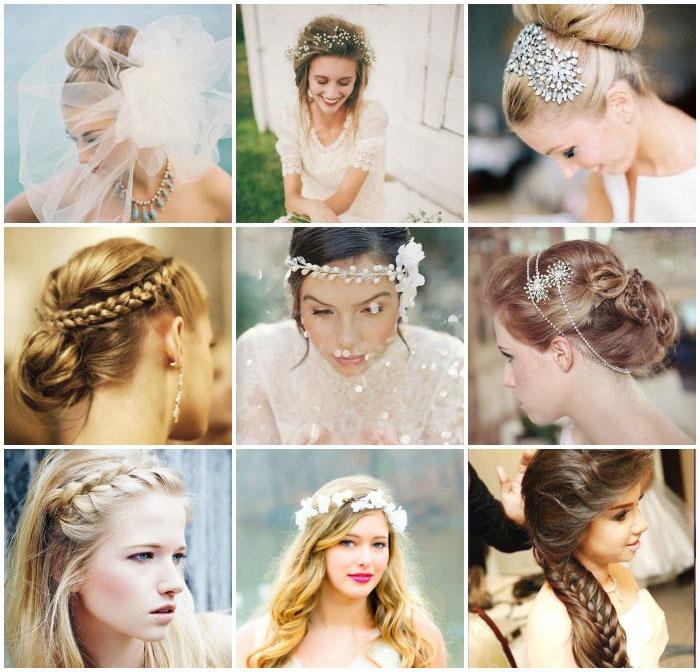 Фото: Свадебные укладки на длинные волосы