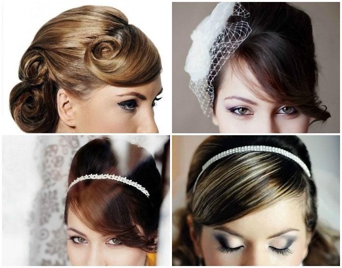Как длинноволосой невесте красиво уложить ассиметричную челку