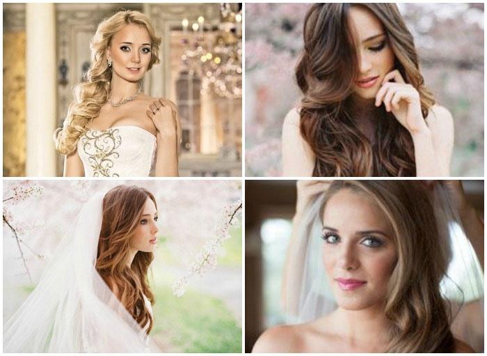 Образ невесты: романтические локоны из длинных волос