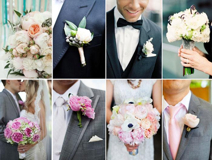 Свадебный букет и бутоньерка фото, где купить красивый букет цветов в спб
