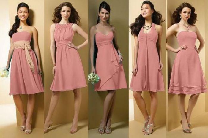 Посетите свадебное торжество в розовом платье