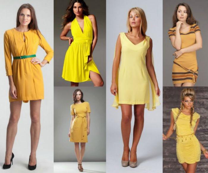 Желтый наряд - отличный выбор для гостьи дня бракосочетания
