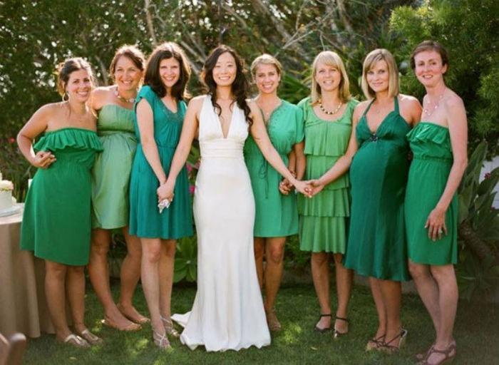 Получили свадебное приглашение - оденьте зеленое платье