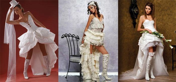 В стиле амазонка: недлинный свадебный наряд со шлейфом