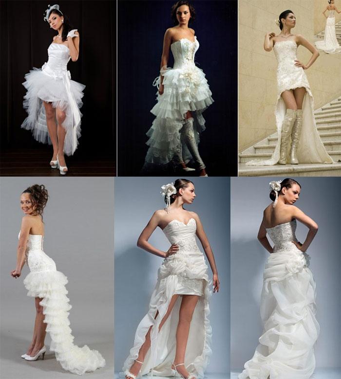 Недлинные свадебные наряды «трансформеры» со шлейфом