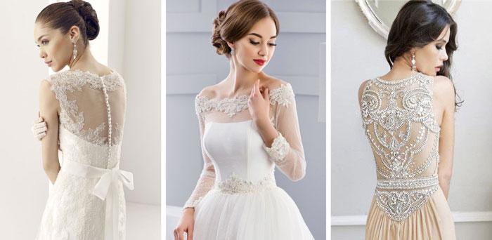 Свадебные платья, расшитые бисером