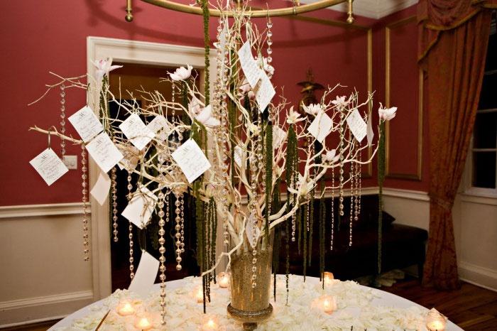 Свадебный сувенир – проволочное дерево для напутственных слов гостей
