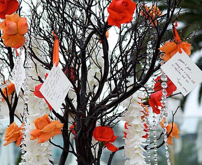 Живые ветки для свадебного дерева пожеланий