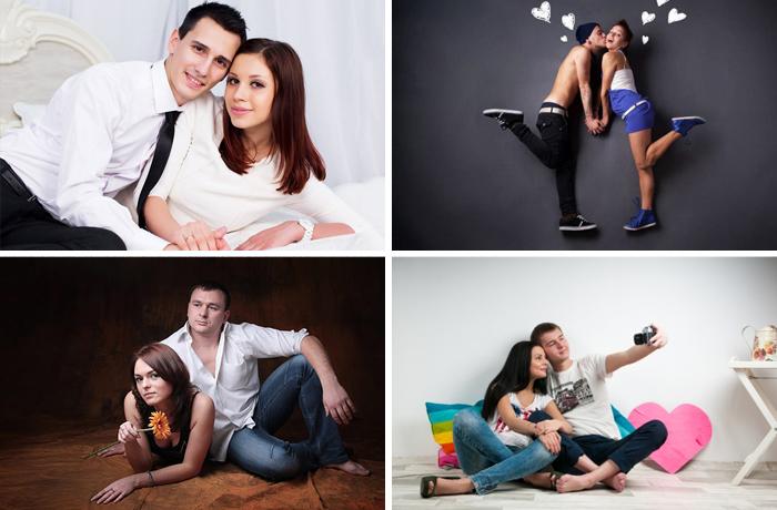 воронежском позы для фотосессии пары в студии показала