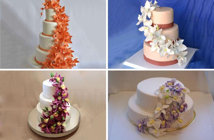 Десерты с цветочным каскадом