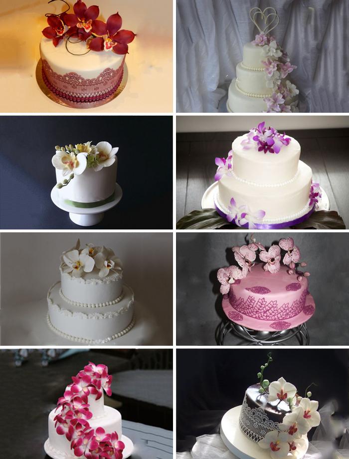 Свадебные торты с орхидеями