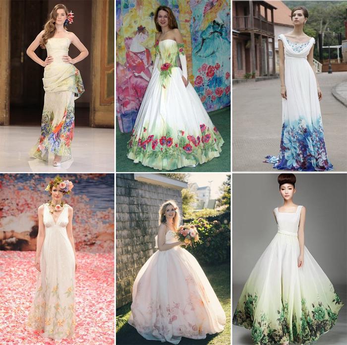 платья с рисунком с фото