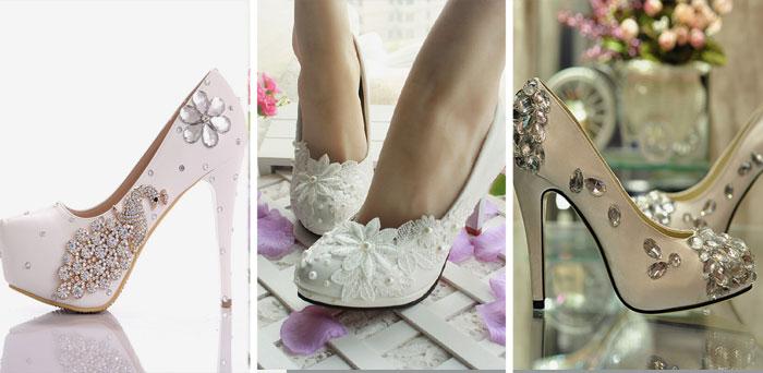 85de11a373e8 Свадебные туфли со стразами  варианты декора и особенности выбора