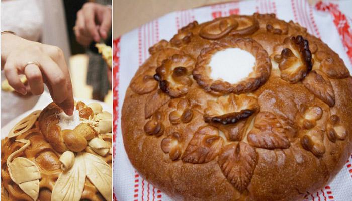 Пирог с углублением для соли