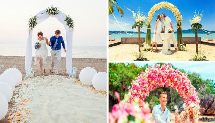 156c516148e1d60 Свадьба на пляже: идеи, образы жениха и невесты, платье для церемонии