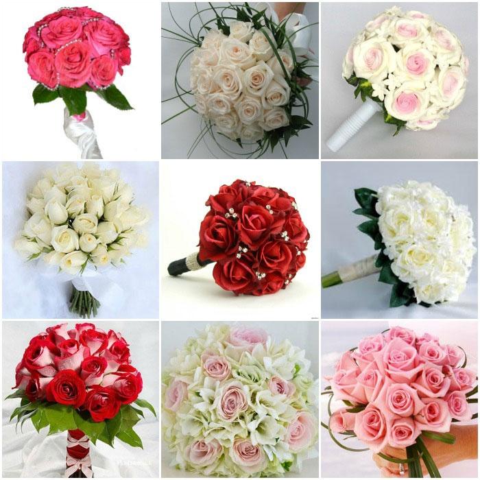 Свадебные букеты: розы
