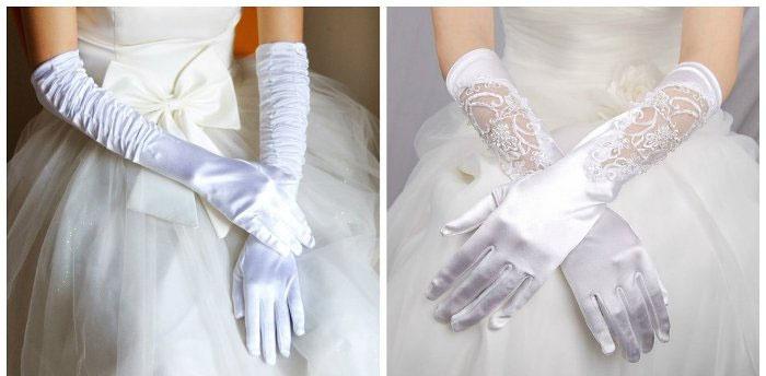 Классические свадебные перчатки