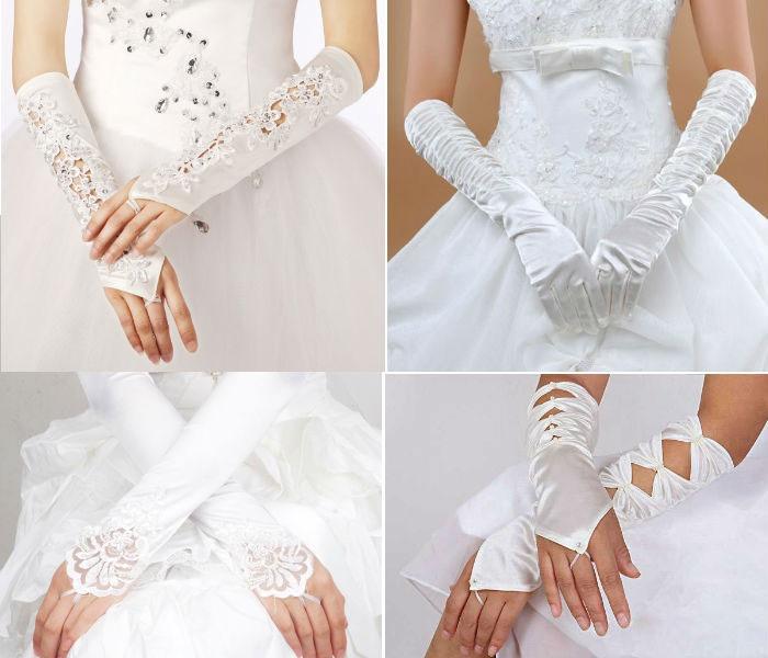 Длинные перчатки на свадьбу
