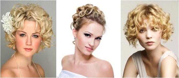 Свадебные прически: завивка на коротких волосах