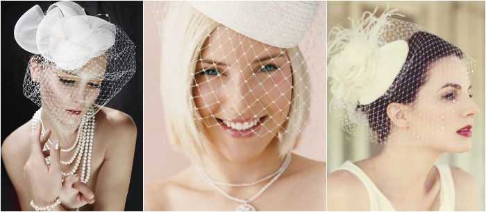 Украшения для свадебной прически: вуалетки