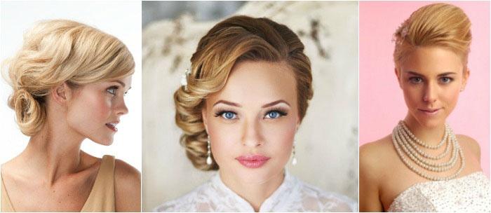 Элегантные свадебные укладки для короткой стрижки