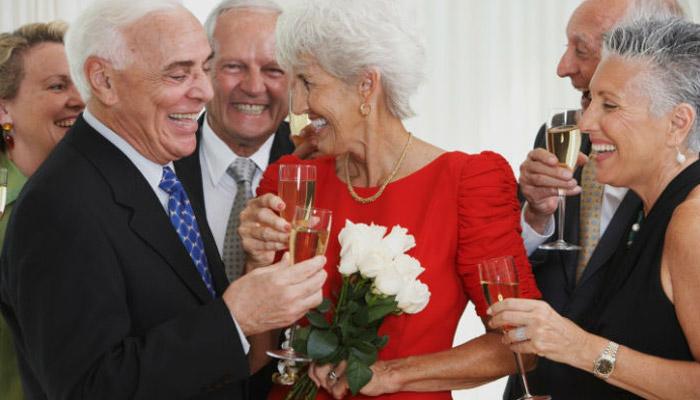 Празднование 40 годовщины брака