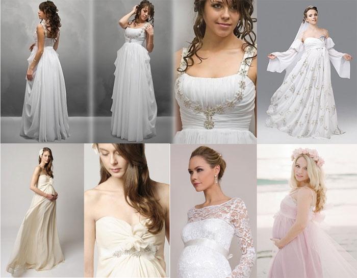 Свадебные платья для беременных - пышные, короткие, в греческом стиле 80085f71604