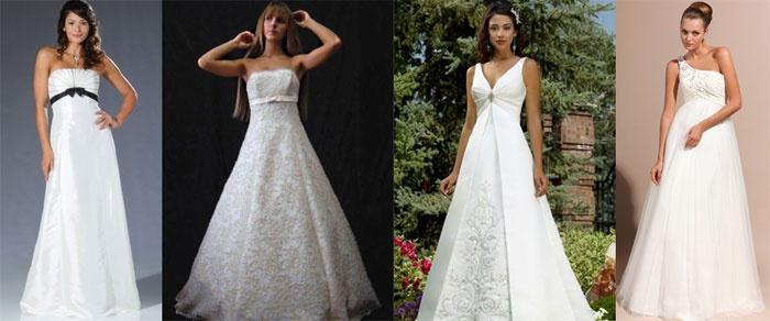 Свадебные наряды для беременных: фасон-трапеция
