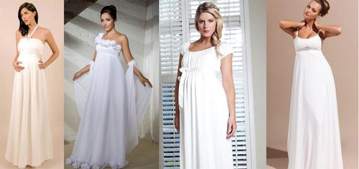Свадебные платья для беременных: завышенная талия
