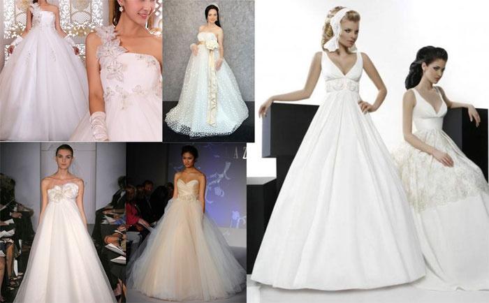 Пышные модели свадебных платьев для беременных