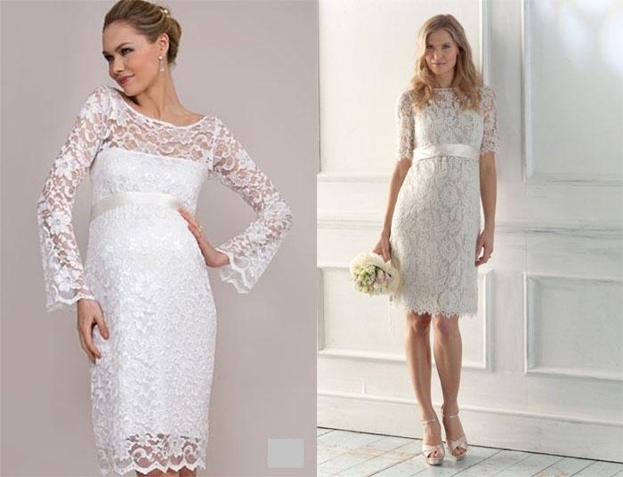 Модели облегающих коротких платьев для беременных