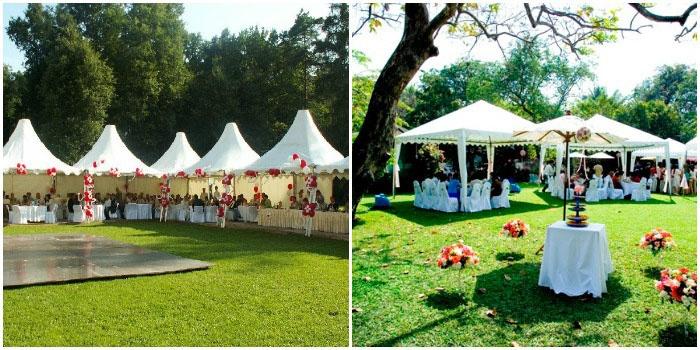 Место свадьбы – парковая зона ресторана