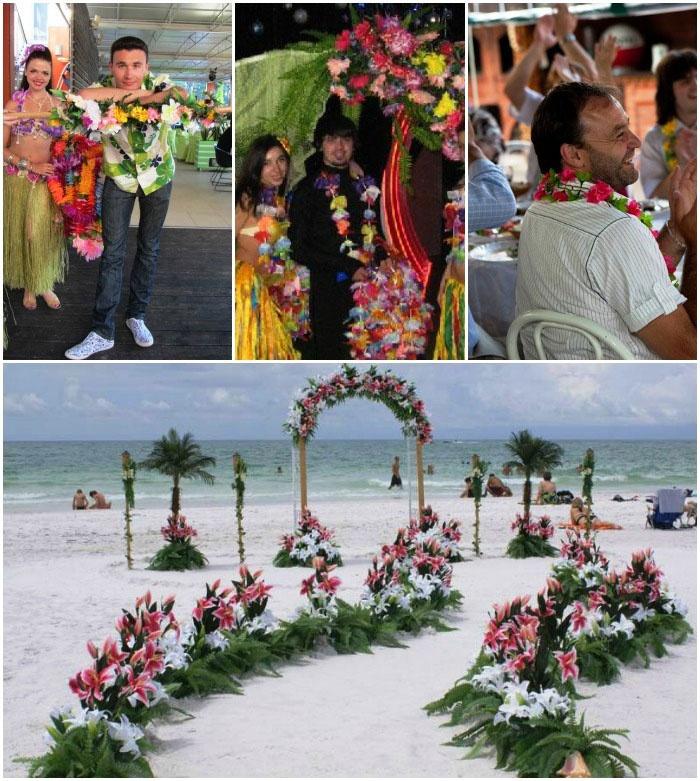 Гавайская свадьба – интересная тема