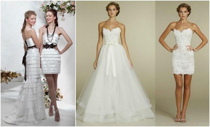 Венчальные свадебные платья-трансформеры