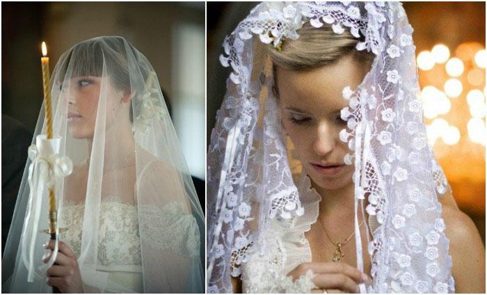 Головные уборы в венчальных нарядах