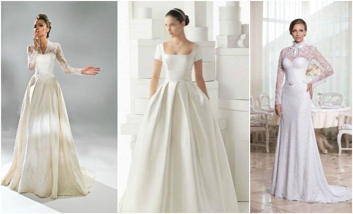 Модели платьев для венчания с рукавами