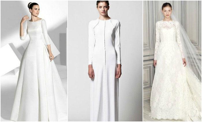Закрытые наряды невестам в церкви