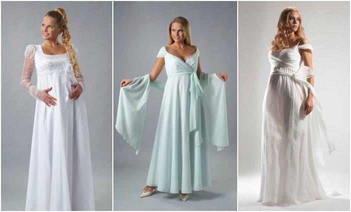 Фасоны моделей венчальных платьев для беременных