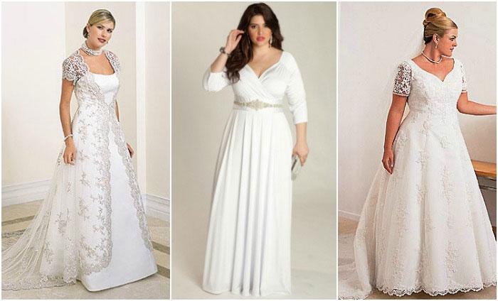 Элегантные платья для венчания полным девушкам
