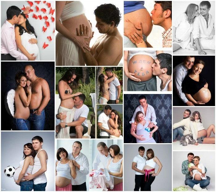 Совместная съемка беременной с мужем